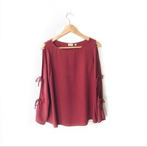wilfred • 'pozzi' blouse flare sleeve aritzia